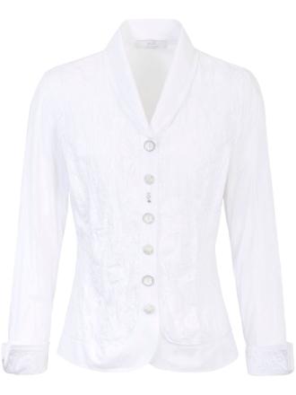 Blus broderat framstycke från Just White vit
