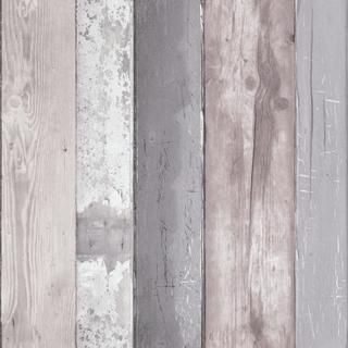 vtwonen - Tapet non-woven - Trä Monde - Grå - Tapet - 1005 x 53 cm