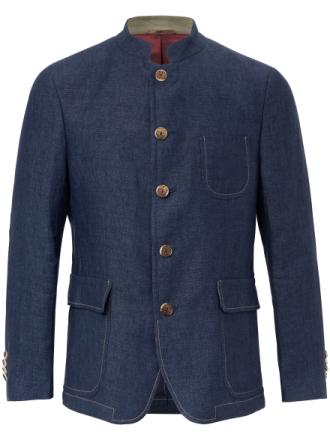 Jacka i rent linne från Lodenfrey blå