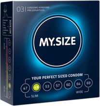 MY.SIZE 49 mm 3pcs