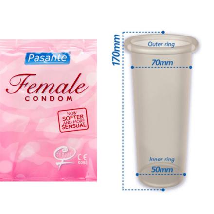 Pasante Female Condoms 3pcs - Kondomer för tjejer