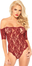 Lace teddy and bottom red M/L