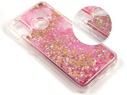 Etui liquid glitter Huawei P20 Lite brokat różowy