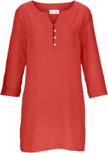 Tunika 3/4-ärm i rent linne från Peter Hahn röd