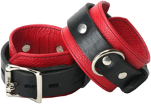 Strict Leather Deluxe Black and Red Locking Cuffs