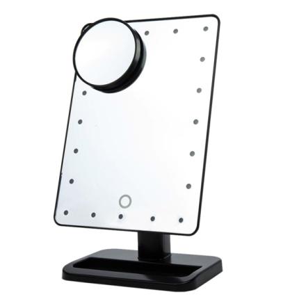 Meikkipeili LED-valolla ja suurennuksella