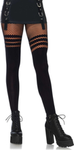 PANTYHOSE W STRIPES O/S BLACK