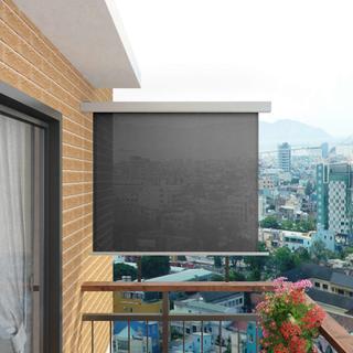 Sidemarkise for balkong multifunksjonell 150x200 cm - grå