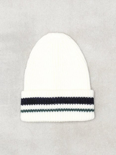 River Island Stripe Fisherman Beanie Huer White