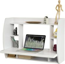 Vægmonteret skrivebord i hvid