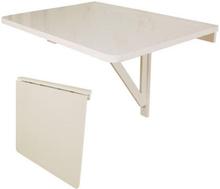 Vægmonteret bord, hvidt