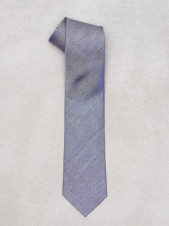 Amanda Christensen Jacquard Half Bottle Tie Solmiot Navy