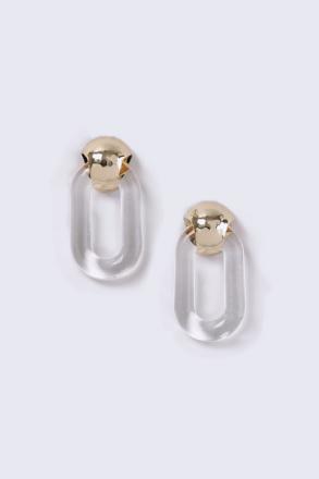 Clear Door Knocker Earrings