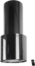 Design frihängande köksfläkt Ypperlig svartlackerad