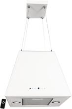 Lyx frihängande köksfläkt TRAPETZ glas+ LED