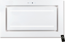 Tak-integrerad köksfläkt LYXOR ELITE vit glas 96cm / 120 cm + LED: INTERN eller EXTERN motor