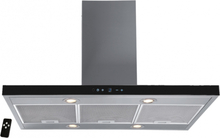 Lyx frihängande köksfläkt Pacific 60cm / 90 cm rostfritt stål+ glas