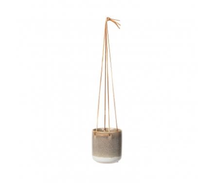 Broste Copenhagen Almas - Urtepotte til ophæng i keramik - Sand - 13,5 cm.