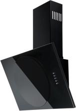 Vägghängd köksfläkt JUPITER 60cm/ 90cm +svart glas - svart - 60 cm