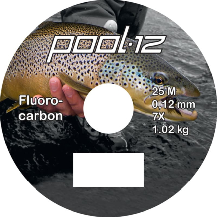 Pool 12 Fluorocarbon Tafsmaterial 25 m. 2X 0,23mm övrig fiskeutrustning 0,15MM