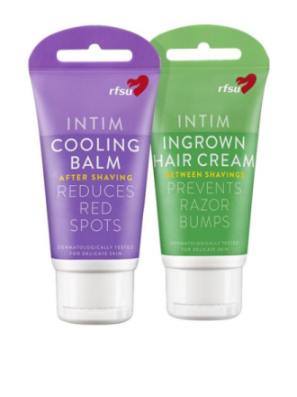 Intimpleie - Transparent RFSU Ingrown Hair Cream & Cooling balm