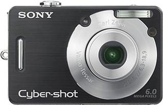 Cybershot DSC-W40 6.0 mp 3 x zoom Sort Digital Kamera