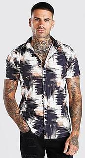 Short Sleeve Abstract Print Shirt