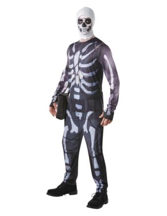 Skull Trooper Fortnite voksen kostume - Vegaoo.dk