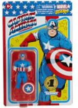Hasbro Marvel Legends RETRO 9,5 cm Sammlung Captain America & Black Panther 2er-Pack Actionfigur