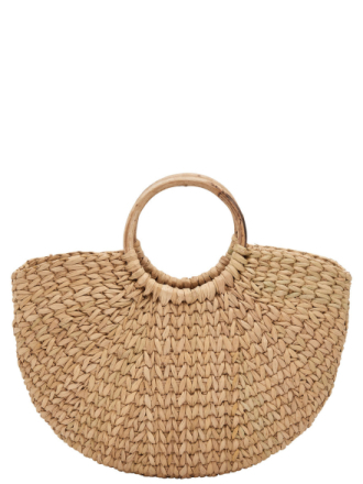 ONLY Straw Beach Bag Women Brown