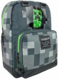 Minecraft Skoletaske - Creepy Creeper Backpack - Mørkegrå - 18'' - Gucca
