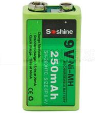 Batteri 9V Ni-MH Uppladningsbart 250mAh