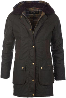 Barbour Women's Bower Wax Jacket Dame øvrige lettfôrede jakker Grønn UK 8 / UK 34