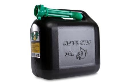 Bränsledunk 10 liter - med Autostop påfyllningspip