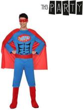 Kostume til voksne Superhelt M/L