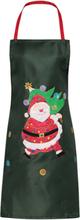 julförkläde tomte med gran