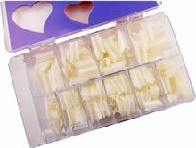 500st nageltippar mjölkvita lösnaglar akryl tippar