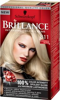 Kjøp Schwarzkopf Brillance Intensive Color-Creme, 811 Scandinavian Blonde, 811 Scandinavia Blonde Schwarzkopf Hårfarge Fri frakt