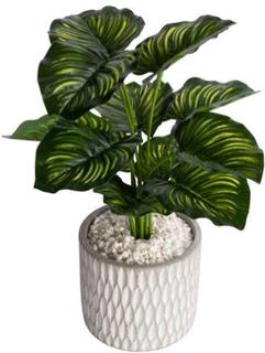 Kunstig grøn plante - Monstera plante - Højde på 38 cm - Flot kunstig potteplante