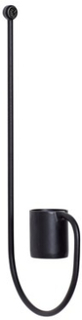 Hübsch Väggljusstake 8xh21 cm - Svart Hübsch