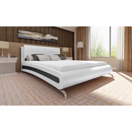 vidaXL Säng 140 x 200 cm konstläder vit