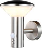 Luxform LED-vägglampa med PIR-sensor Trier silver