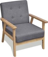 vidaXL lænestol stof lysegrå
