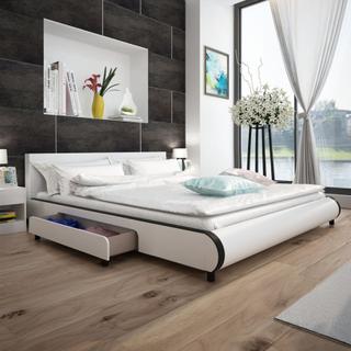 vidaXL Säng 180 x 200 cm med 2 lådor konstläder vit