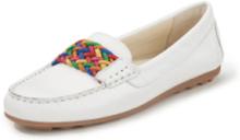 Loafers i kalvmocka från Peter Hahn vit