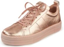 Sneakers getnappa metallicfinish från Peter Hahn rosa