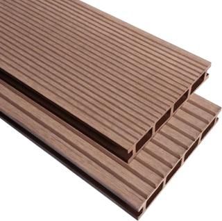 vidaXL WPC terrassebrædder med tilbehør 20 m² 2,2 m brun