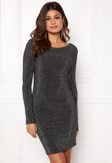 9b467c622b84 VERO MODA Githa LS Lurex Dress Black Silver Lurex XL