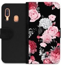 Samsung Galaxy A20e Wallet Case Floral Bloom