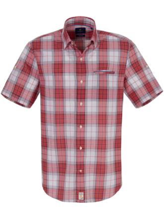 Skjorta Modern Fit kort ärm från Pierre Cardin röd